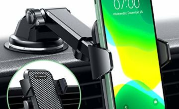 VANMASS Car Phone Holder 3 in 1 SmartTouch, Upgraded Gen 3 Mobile Phone Holders for Cars Dashboard Windscreen Air Vent, Car Phone Mount for All iPhones 11 Pro/XS Max/XR/8 Plus/7/Galaxy A50/S10+/Huawei