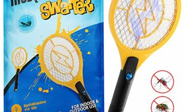Zenoplige Bug Zapper, USB Rechargeable Fly Zapper Racket Electric Bug Mosquito Swatter for Indoor and Camping Pest Control