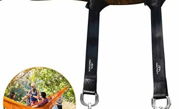Pootack Tree Swing Straps Hanging Kit -150cm long with Two Sturdy Zinc Alloy Carabiners 1000lbs- For Swings and Hammocks,Easy To Use(2 packs)