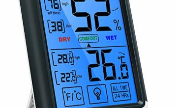 ThermoPro TP55 Digital Indoor Hygrometer Thermometer Temperature and Humidity Monitor Room Moisture Meter with Large Touchscreen, Backlight