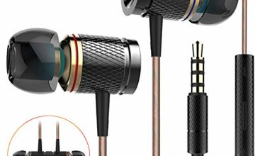 Earphones, Ofuca Noise Isolating In Ear Headphone with High Sensitivity Microphone,High Definition, Hi-Res Extra Bass Earbuds Headphones for Smartphone, MP3/MP4 Player Tablet And 3.5mm Audio Device