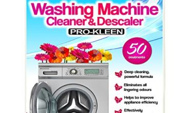 Pro-Kleen Washing Machine Cleaner and Descaler - 50 Treatments - Removes Smells Caused by Mould, Mildew & Damp & Grease (1, 5 Litre)