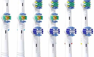 Tikola Replacement Brush Heads for Oral-B Electric Toothbrush Pro, Smart and Genius Series, Cross, Precision, Whitening and Floss 16 Packs Plaque Removal