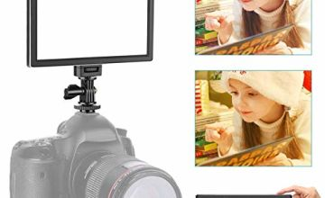 Neewer Camera / Camcorder Video Light SMD LED light box for softer illumination, 3200K to 5600K color temperature and dimmable light, ultra thin, T100 (battery not included)