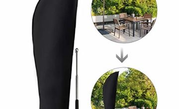GEMITTO Parasol Cover with Rod 3m Extra Large Cantilever Parasol Cover Outdoor Umbrella Cover Protector for Garden Banana Parasol Patio Umbrella 2 to 4 m Waterproof UV Resistant 280 x 81/30/45cm