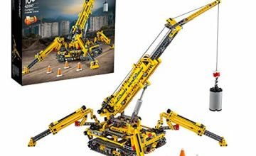 LEGO 42097 Technic Compact Crawler Crane and Tower Crane, 2 in 1 Spiderlike Model, Construction Set