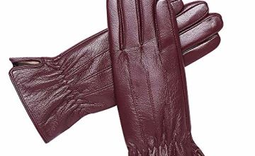Womens Genuine Leather Gloves Winter - Acdyion Touchscreen O