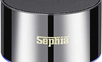 Sephia A2 Mini Bluetooth Wireless Speaker, Portable Speaker with Built in Microphone, Stereo Sound, Clean Bass, Powerful Volume, Compatible With iPhone, iPad, Samsung, Tablets and more