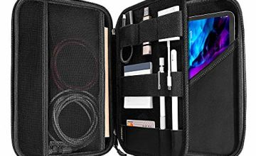 tomtoc Portfolio Case for 2020 iPad Pro 11-inch / 10.2 New iPad 2019/10.5 iPad Air / 10.5 iPad Pro, Organizer Bag Holders for iPad Pencil, Cable, A5 Note, Business Storage Padfolio with Tablet Sleeve