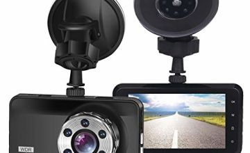 "ORSKEY Dash Cam 1080P Full HD Car Camera DVR Dashboard Camera Video Recorder In Car Camera Dashcam for Cars 170 Wide Angle WDR with 3.0"" LCD Display Night Vision Motion Detection and G-sensor"