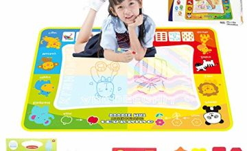 jenilily Water Drawing Mat & Water Doodle Book 47in*35 inch