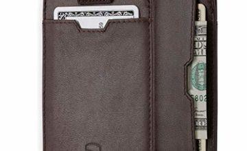 Vaultskin Chelsea Slim Minimalist Leather Wallet for Men with RFID Blocking, Front Pocket Credit Card Holder