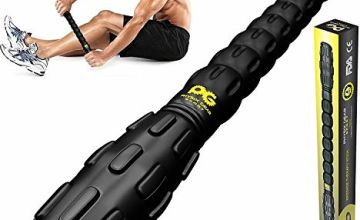 Physix Gear Sport Muscle Roller Stick - Deep Tissue Massage Roller for Trigger Points, Leg Cramps, Quads, Calf & Hamstring Tightness - Myofascial Release - Best Muscle Massager Stick for Athletes