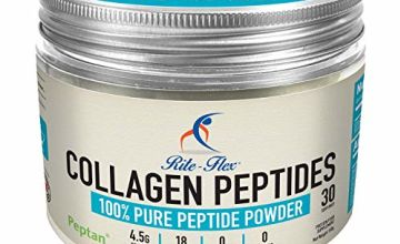 Rite-Flex Collagen Peptides - Peptan® 100% Peptide Powder - Made in France - Hydrolysed & Bioactiv - No Sugar & Carbs - Meets with 2019 WADA Code - Simply Add 5g Scoop to Food & Beverages