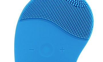 Facial Cleansing Brush, HailiCare Electric Silicone Face Massager Brush Waterproof Anti-Aging Skin Cleanser and Deep Exfoliator Makeup Tool for Facial Polish and Scrub (Blue)