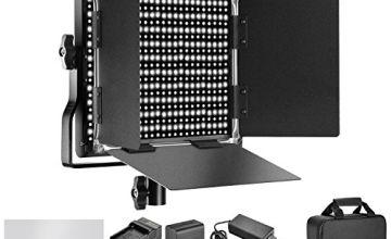 Neewer Dimmable Bi-color 660 LED Video Light with 6600mAh Battery and Charger Lighting Kit: 3200-5600K CRI 96+ with U Bracket Barndoor for Photo Studio YouTube Video Shooting(Black)