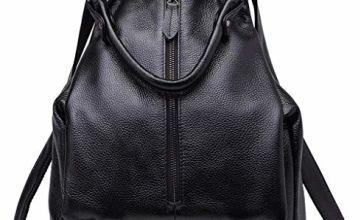 BOYATU Genuine Leather Backpack Women,Soft Real Rucksack Lux
