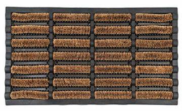 OCCO Karlstad 40cm x 70cm Outdoor Heavy Duty Doormat I Coir Rubber Backed Doormat I Non Slip Mud Doormat I Outside Door Mat