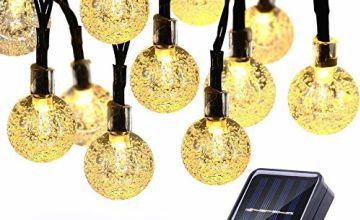 NEXVIN Solar String Lights Garden with 50 LED Crystal Ball