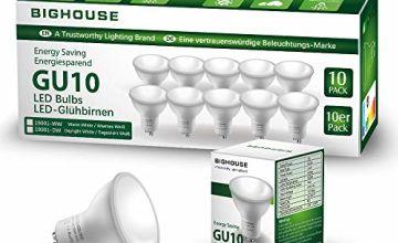 GU10 LED Light Bulbs, 5W, 400lm, 3000k Warm White, 50W Halogen Bulbs Equivalent, 120° Beam Angle [Energy Class A+]
