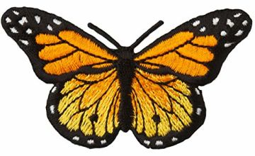 "Simplicity Monarch Butterfly Applique, Multi-Colour Colour, 3"" x 1.75"""