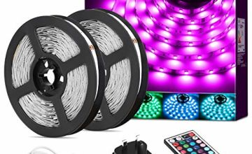 LE 5M 10M RGB LED Strip Lights with Remote