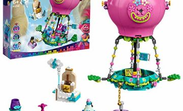 LEGO 41252 Trolls World Tour Poppy's Hot Air Balloon Adventure Playset with Poppy, Branch, Biggie and Mr Dinkles