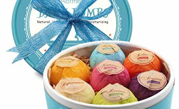 Aofmee Bath Bombs Gift Set, Fizzies Spa Kit Perfect for Moisturizing Skin, Birthday Valentines Mothers Day Anniversary Christmas Best Gifts Ideas for Women, Mom, Girls, Her, Kids