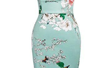 Belle Poque 1950's Floral Vintage Dress Knee Length Size 6 BP0117-5