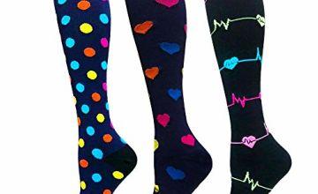 Diu Life Compression Socks for Women and Men-Best Medical,for Running,Nursing,Circulation & Recovery, Hiking Travel & Flight Socks 20-25mmHg…