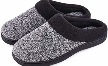 Men's & Women's Comfort Woolen Fabric Anti-Slip House Slippe