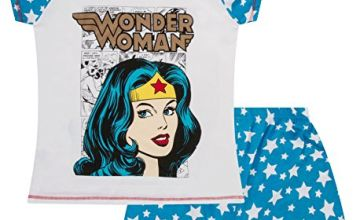 DC Comics Warner Bros Wonder Women Ladies Short Pyjamas (20-