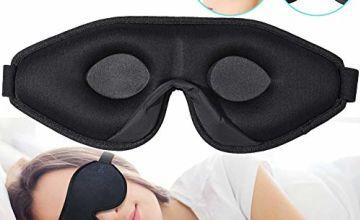 OriHea Eye Mask for Sleeping - 3D Comfort Soft Sleep Mask Men Women - Block Out Light 100% Eye Shade Cover