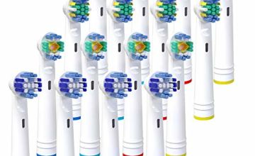 Replacement Toothbrush Heads, iTrunk 16 Pack Electric Toothbrush Heads Compatible with Pro 3000 Pro 5000 Pro 7000, Includes 4 Cross, 4 Precision Clean, 4 Floss & 4 3-D Whitening
