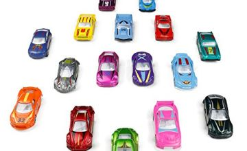 Metal Car Toys Set Die Cast Racing Model Collection Vehicle Play Set for 3 4 5 Year Old Boys Girls Kids 16pcs