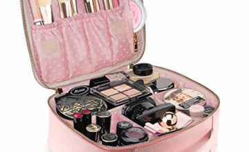 TOPSEFU Professhional Makeup Bag,Portable Make up Pouch, Makeup Case Makeup Train Case with Adjustable Dividers for Cosmetics Makeup Brushes