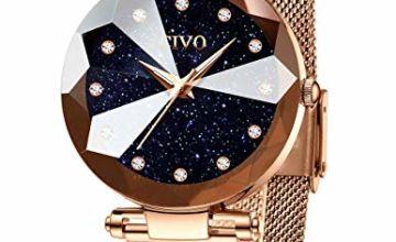 CIVO Women Watches Ladies Stainless Steel Mesh Strap Waterproof Watches for Woman Girls Teenager Elegant Business Dress Analogue Wrist Watch