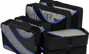 Eono by Amazon - 5/6 Pcs Packing Cubes Travel Luggage Organizers Suitcase Organizer Packing Organizers