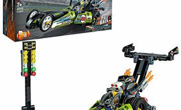 LEGO42103TechnicDragsterRacingCarToytoHotRod2-in-1SetwithPull-BackMotor,DragRacerVehiclesCollection