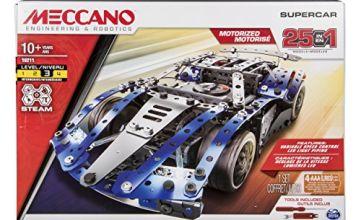 MECCANO 6044495 25 Model Set Super Car, Mixed Colours