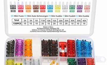 Rovtop Standard Car Fuses,150 pcs Assorted Auto Car Standard Blade Fuses Replacement Kit 2A 3A 5A 7.5A 10A 15A 20A 25A 30A 35A 40A With 1 Fuse Extrator 1 Carrying Box (Car Standard Blade Fuse)