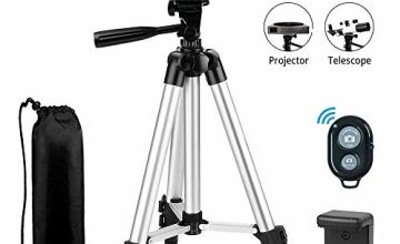 Phone Tripod EVERESTA 42 Inch 360 flexible Smartphone Tripod,Also Use as Camera Tripod, DSLR Tripod, Video Tripod with Phone Holder Mount Bluetooth Remote Shutter
