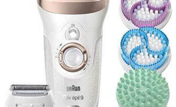 Braun Silk Epil 9-961v Epilator, Women's Skin Spa Wet and Dry Cordless Epilator, with 12 Extras Including Bonus Body Exfoliator and Massage Attachments