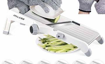 MILcea Mandoline Slicer, Stainless Steel Mandoline Slicer Adjustable Kitchen Food Julienne Slicer for Fruits and Vegetables