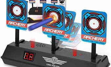Keten Electronic Digital Target for Nerf Guns, Auto-Reset Intelligent Light Sound Effect Scoring Target for Nerf N-Strike Elite/Mega/Rival Series (Only Target)