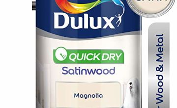 Dulux Quick Dry Satinwood Paint For Wood And Metal - Magnolia 750Ml