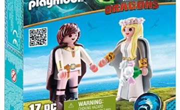 Playmobil 70045 Dragons Astrid and Hiccup, Colourful, Dimensions: 14.2 x 14.2 x 4.1 cm(LXWXH)