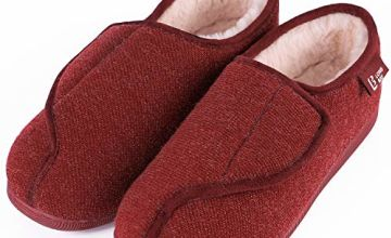 LongBay Women's Wide Fit Memory Foam Diabetic Slippers Comfy Cozy Arthritis Edema House Shoes