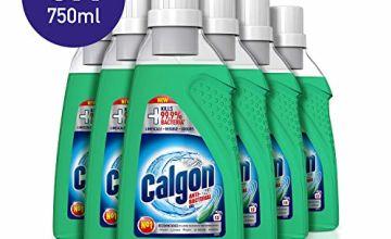 Calgon 3-in-1 Antibacterial Washing Machine Water Softener Gel - 6 Bottles x 750ml (4.5L)