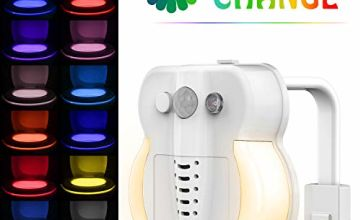 Toilet Light, Sunnest Toilet Bowl Night Light 16 Colors Motion Activated with Function of Aromatherapy and UV Sterilizer Sensor LED Bathroom Night Light Waterproof (16 Colors)
